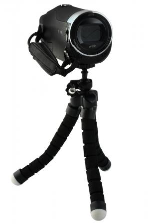 Suport Telefon Trepied Pentru Birou Tripod Selfie Camere Tablete Flexibil Negru9