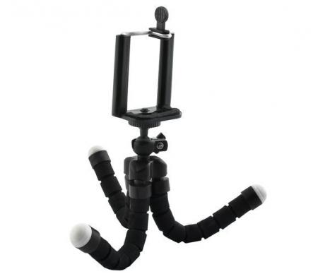 Suport Telefon Trepied Pentru Birou Tripod Selfie Camere Tablete Flexibil Negru5