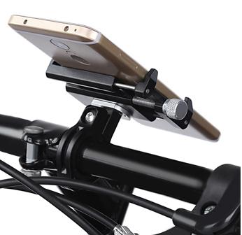 Suport telefon din aluminiu pentru bicicleta cu prindere pe ghidon culoare negru [0]