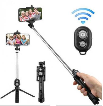 Selfie Stick Universal 2 in 1 Extensibil Trepied Foto pentru Telefon + Telecomanda Bluetooth0