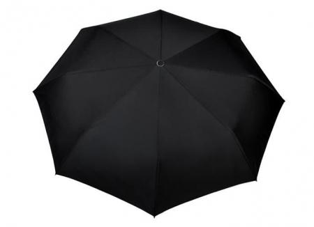Umbrela  pliabila automata deschis/inchis cu buton neagra complet 110cm diametru, articulatii anti-vant3