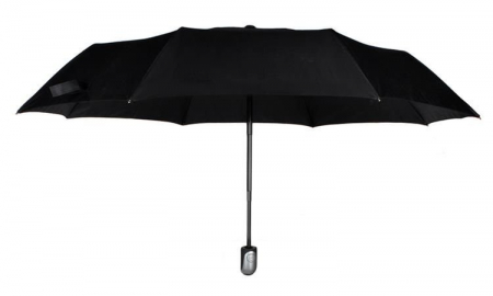 Umbrela  pliabila automata deschis/inchis cu buton neagra complet 110cm diametru, articulatii anti-vant0