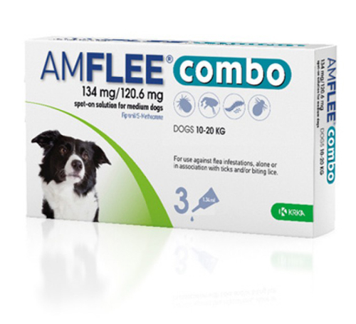 Amflee Combo Dog 134mg M 10-20 kg x3pipete 0