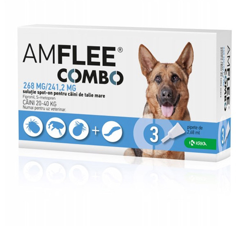 Amflee Combo Dog 268mg L 20-40 kg x3pipete 0