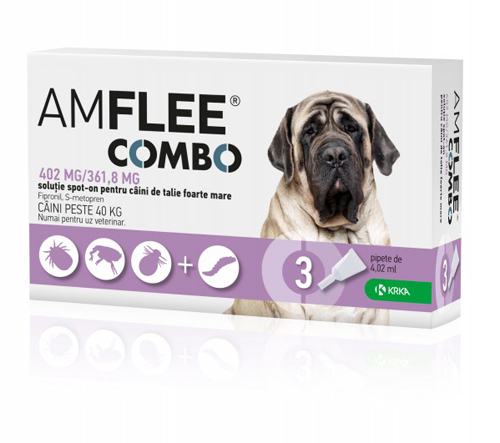 Amflee Combo Dog 402mg XL 40-60 kg x3pipete 0