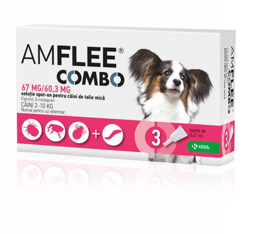 Amflee Combo Dog 67mg S 2-10 kg x3pipete 0