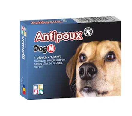 Antipoux pipeta antiparazitara caini 10-20 kg 0