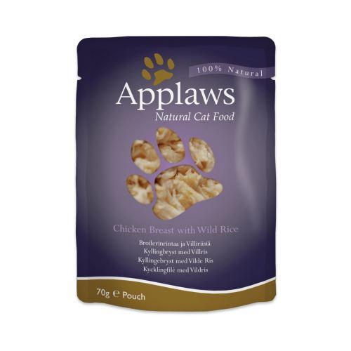 Applaws Cat Adult - Piept de pui si orez salbatic - plic 70g [0]