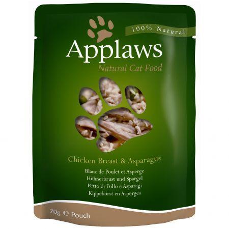Applaws Cat Adult - Piept de pui si sparanghel - plic 70g [0]