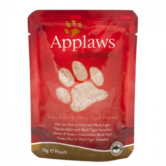 Applaws Cat Adult - Ton file si Creveti Black Tiger - plic 70g [0]
