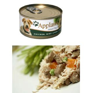 Applaws Dog Adult - pui, ficat de vita si vegetale 156g 0