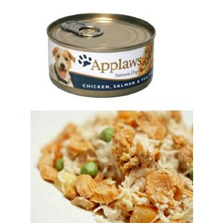 Applaws Dog Adult - pui, somon si vegetale 156g 0