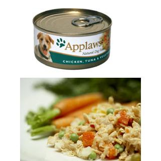 Applaws Dog Adult - pui, ton si vegetale 156g 0