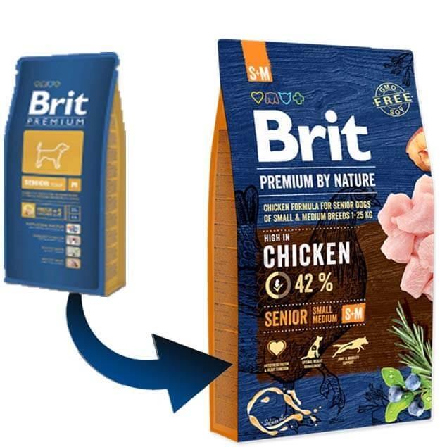 Brit Premium by Nature Senior S-M, 15 kg 0