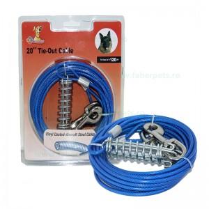 Cablu curte otelat 6m/4mm 0