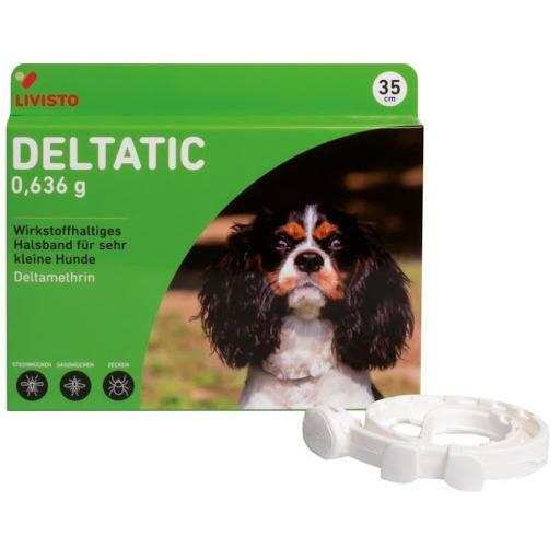Deltatic 35 cm, zgardă antiparazitară pentru câini [0]