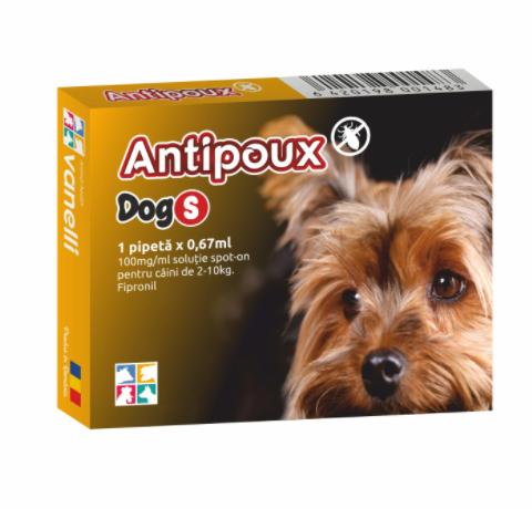 Antipoux pipeta antiparazitara caini 2-10 kg 0