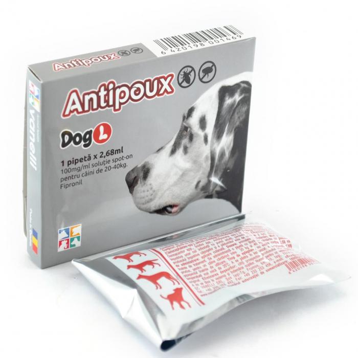 Antipoux pipeta antiparazitara caini 20-40 kg 0