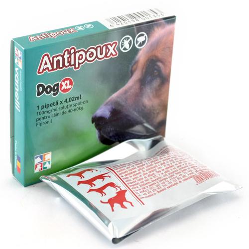 Antipoux pipeta antiparazitara caini 40-60 kg 0