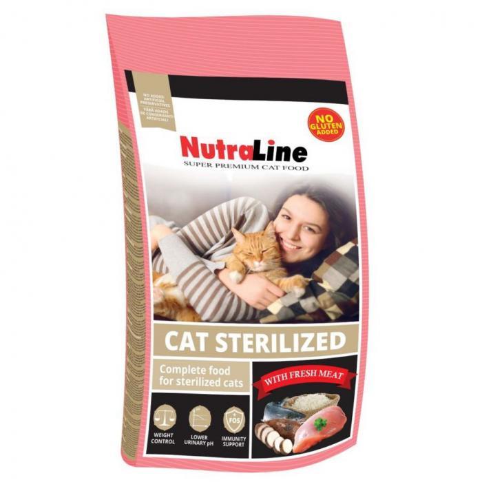 Hrana pentru Pisici Nutraline Sterilised 1,5 kg 0