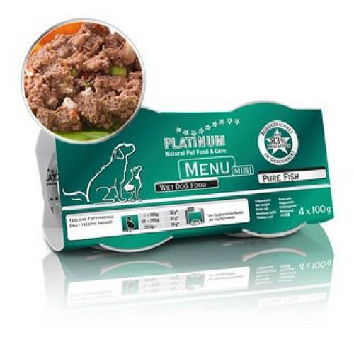 Hrana Platinum Meniu Mini cu Peste, 4x100g 0