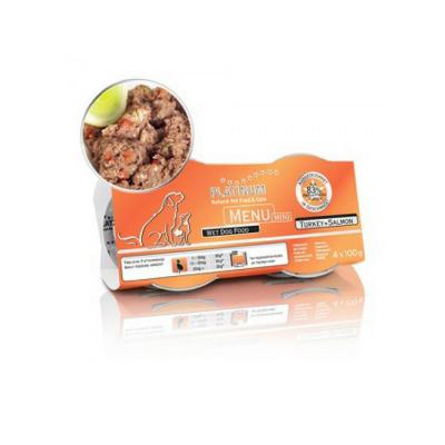 Hrana Platinum Meniu Mini Curcan & Somon, 4x100g 0