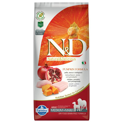 ND Dog Grain free Pumpkin Chicken and Pomegranate Adult Medium and Maxi 12 kg 0