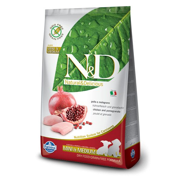 N&D Dog Grain free Chicken and Pomegranate Mini and Medium Puppy 12 kg 0
