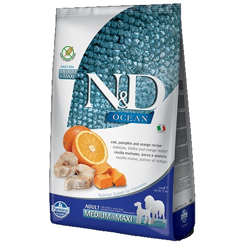 N&D Ocean Cod Adult Pumpkin and Orange Medium Maxi 12 kg 0