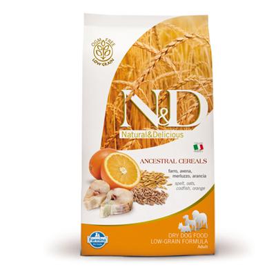 N&D Low Grain Adult Mini Peste si Portocale 7 kg 0