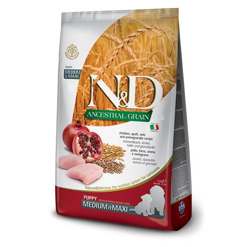 N&D Ancestral Grain Chicken Puppy Medium Maxi 12 kg 0