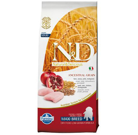 N&D Low Grain Puppy Maxi Pui si Rodie 12 kg 0