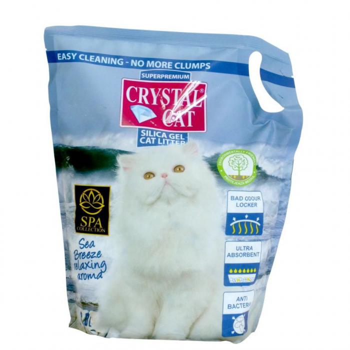 Nisip pentru pisici Crystal Cat Sea Breeze 3.8 L 0