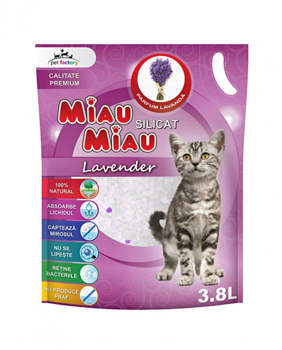 Nisip Silicatic Miau Miau Lavanda [0]