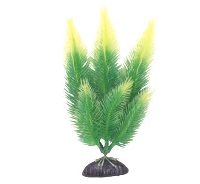Planta artificiala verde cu galben 20 cm 0