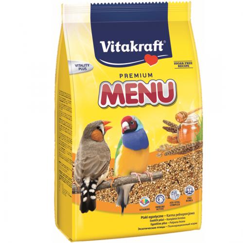 Hrana pentru pasari exotice Vitakraft Premium Menu 500G 0