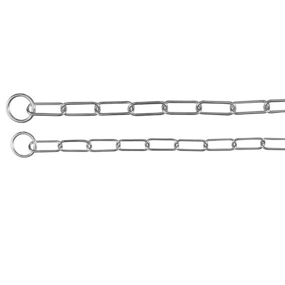 Zgarda lant oval strangulanta 77cm/4mm 0