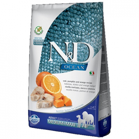 N&D Ocean Cod Adult Pumpkin and Orange Medium Maxi 12 kg1