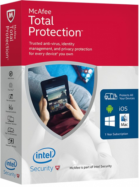 McAfee Total Protection 1an 3PC - Licenta electronica 0