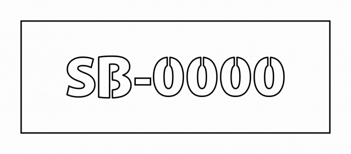 Sablon cod identificare stupina 0