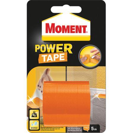 Banda autoadeziva Moment Power Tape, 5m x 50mm, portocaliu 0