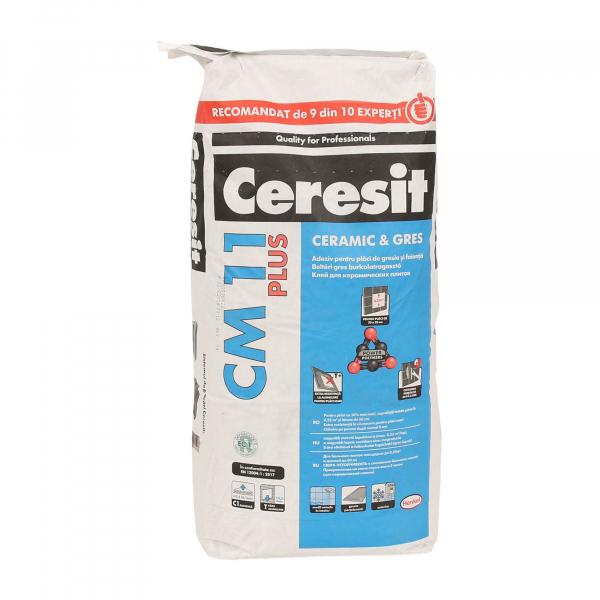 Adeziv gresie si faianta Ceresit CM 11 Plus, gri, interior/exterior, 25 kg 0