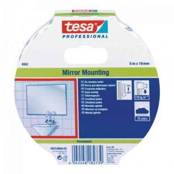 Banda dublu adeziva de montaj TESA 04952 19 mm 5 m Alb 0