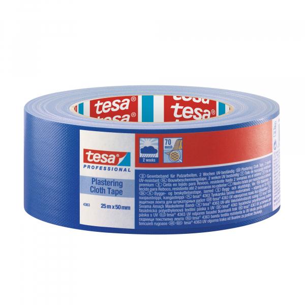 Banda mascare textila tesa® 4363, albastra, interior / exterior, 50 mm 0