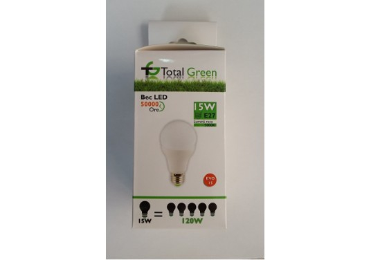 BEC LED A60 15W E27 TOTAL GREEN 0