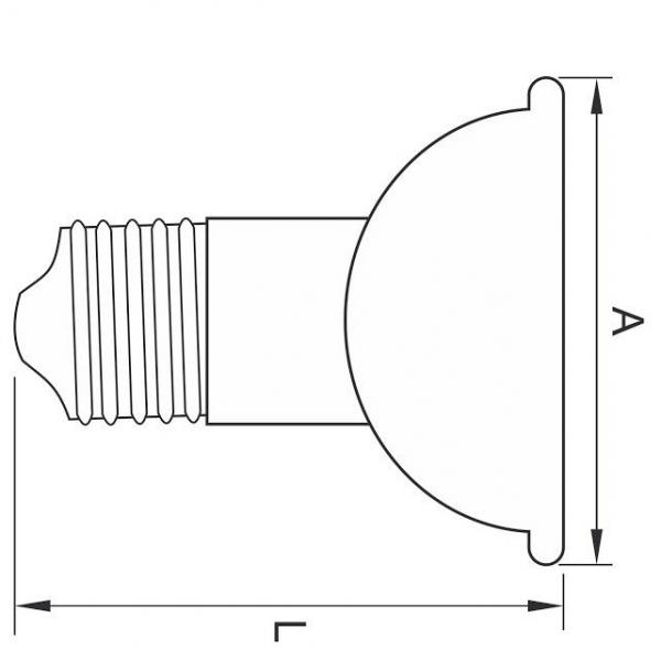 BEC LED JDR SPOT, E27, 10W, 50000 ORE, LUMINA RECE total green [1]