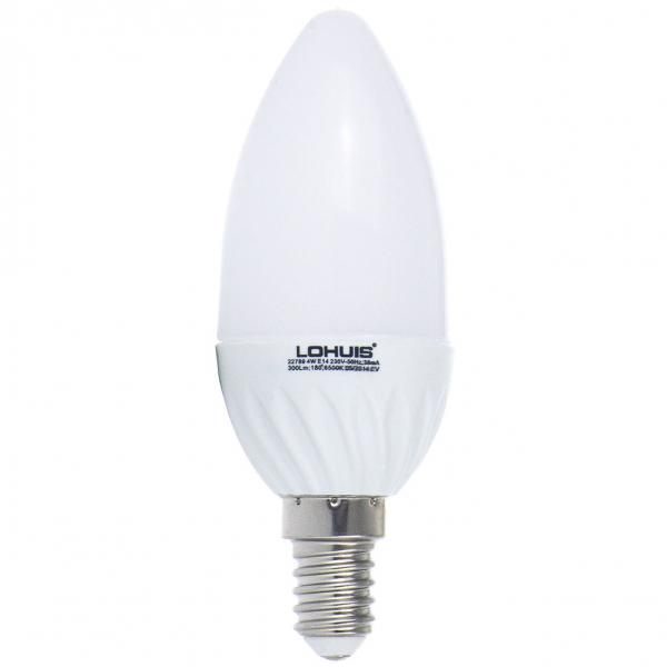 BEC LED LOHUIS,LUMANARE, E14, 4W, 30000 ORE, LUMINA RECE 0