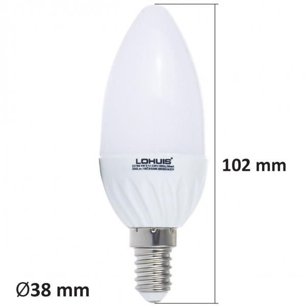 BEC LED LOHUIS,LUMANARE, E14, 4W, 30000 ORE, LUMINA RECE 1