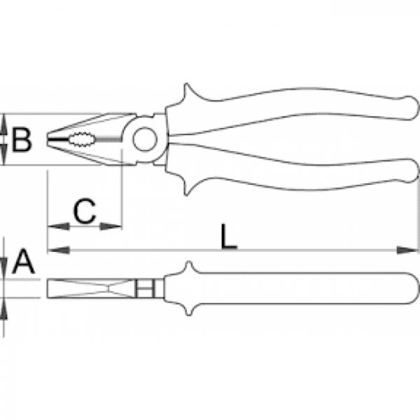 CLESTE COMBINAT 406/4G UNIOR 180MM [1]