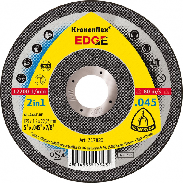 DISC DEBITARE 125X1.2 THE EDGE 0